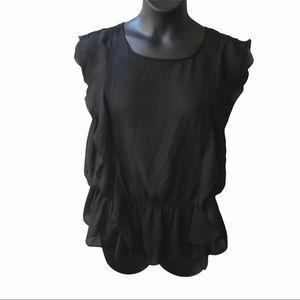 🌻2/$25 Susie Rose Sheer Black Top Size XXL